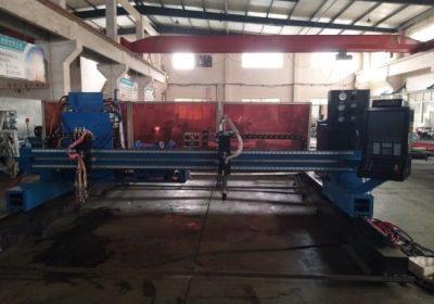 Tērauda griešanas mašīna plazmas / liesmas portāls CNC plazmas caurule griešanas mašīna